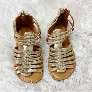 Toddler girls Cherokee caged gladiator sandals 8